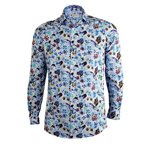 Bloemen Overhemd.Bloemen Overhemd Blue Heaven Met Flora Print Is Een Unieke