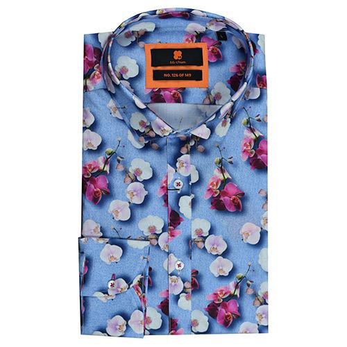 Bloemen Overhemd.Kleurrijk Bloemen Print Overhemd Spring Orchids Van Bb Chum Is Een