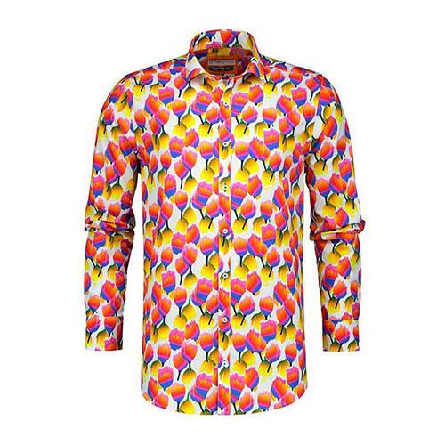 Overhemd Delight Heren Kleurrijk Dutch Met Tulpenprint 3Ajqc54RL