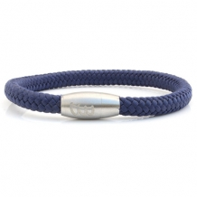 bad-ass bracelets steel & rope ocean blue