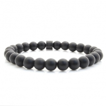 bad ass bracelets steel stones matte onyx