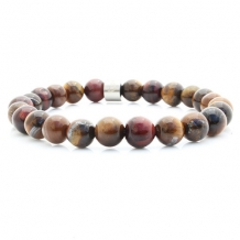 badass bracelets steel stone tiger eye