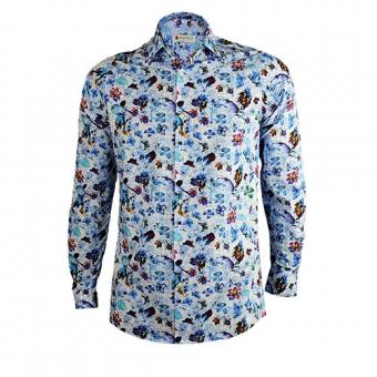 Bloemetjes Overhemd.Bloemen Overhemd Blue Heaven Met Flora Print Is Een Unieke