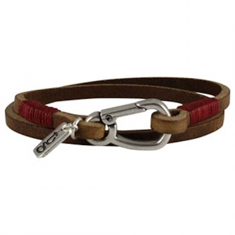 mannen armband hook brown