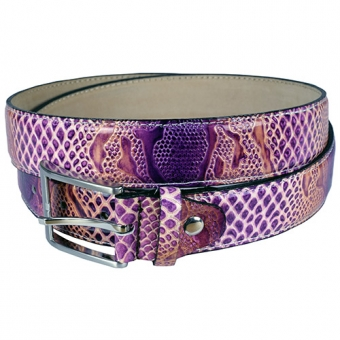 Purple Brown Crokodile riem