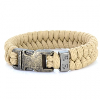 paracord armband viper light brown