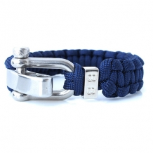 Paracord armband Steel & Cord Dark Blue