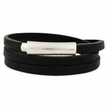 Trendy armband Wrapper black